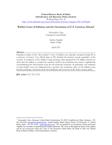 Welfare Costs of Inflation and the Circulation of US Currency Abroad