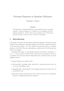 Feynman Diagrams in Quantum Mechanics