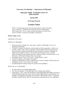 Lecture Notes Intro Fall 03 - U of L Class Index