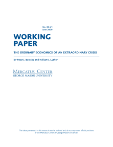 The Ordinary Economics of an Extraordinary Crisis