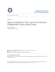 Satire`s Liminal Space: The Conservative Function of Eighteenth