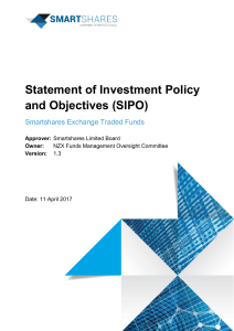 Statement of Investment Policy and Objectives