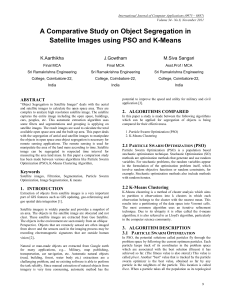 A Comparative Study on Object Segregation in Satellite Images
