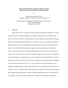 2015-08-28 Biotech-ITC Joint Session Paper - Giannelli