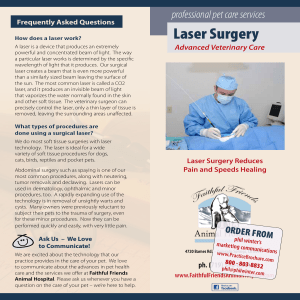Laser Surgery - Phil Winter`s Marketing Communications