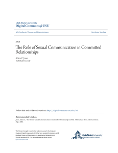 The Role of Sexual Communication in Committed Relationships