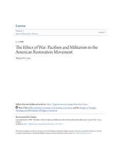 Pacifism and Militarism in the American Restoration Movement