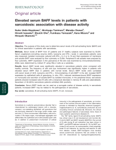 Elevated serum BAFF levels in patients with sarcoidosis: association