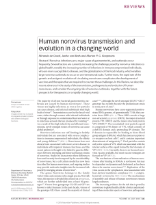 Human norovirus transmission and evolution in a