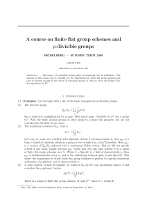A course on finite flat group schemes and p