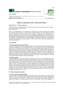 Helium Extraction from LNG End-Flash