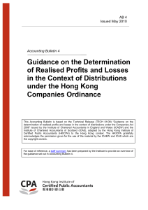 Guidance on the Determination of Realised Profits and