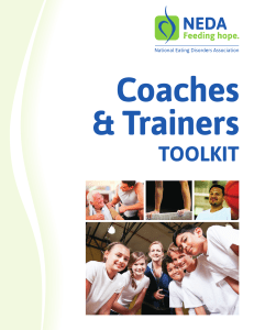 Coaches and Trainers Toolkit - National Eating Disorders Association