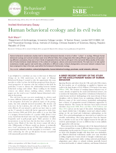 Human behavioral ecology and its evil twin