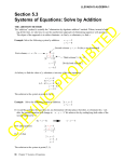 Systems of Equations: Solve by Addition