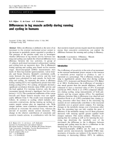 Differences in leg muscle activity during running and - VU-dare