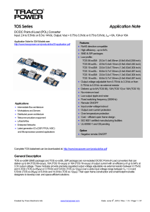 FDC10 10 Series of Power Moudules : DC/DC Converter
