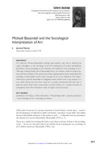 Michael Baxandall and the Sociological Interpretation of