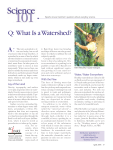 A: Q: What Is a Watershed?