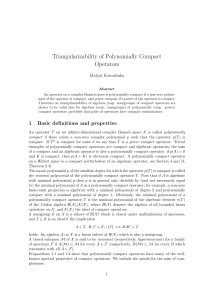 Triangularizability of Polynomially Compact Operators