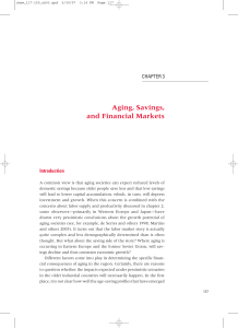 Aging, Savings, and Financial Markets