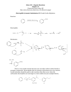 EAS Friedel-Crafts Alkylation