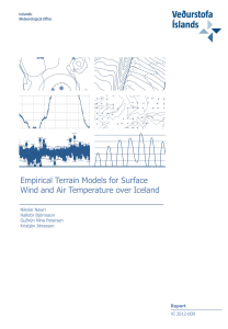 Empirical Terrain Models for Surface Wind and Air Temperature over