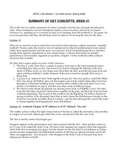 summary of key concepts: week #1