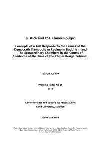 Justice and the Khmer Rouge
