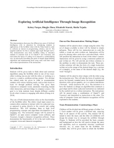 Exploring Artificial Intelligence Through Image Recognition