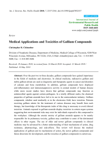 Medical Applications and Toxicities of Gallium Compounds