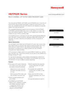 HUTP62R Series - Honeywell Video Systems