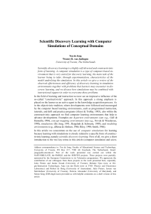 Scientific Discovery Learning with Computer Simulations of