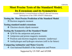 Most Precise Tests of the Standard Model, Its - Indico