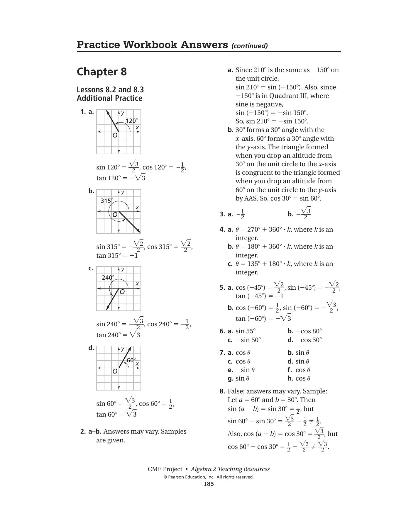 Bestseller: Pearson Algebra 2 Workbook Answers