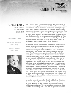Chapter 9 Teacher Summary - Roadmap to Last Best Hope