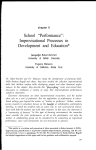 "School ""Performance"": Improvisational Processes in Development"