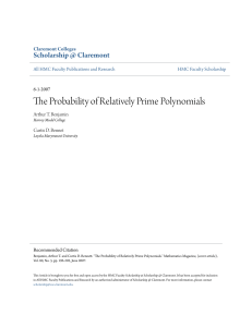 The Probability of Relatively Prime Polynomials