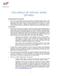 THE WORLD OF VIRTUAL WORK DEFINED