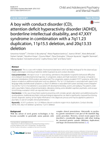 A boy with conduct disorder (CD), attention deficit hyperactivity