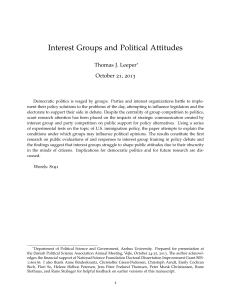 Interest Groups and Political Attitudes