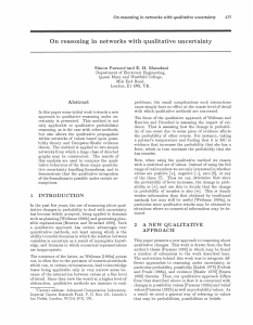On reasoning in networks with qualitative