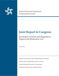 Joint Report to Congress: Economic Growth and Regulatory