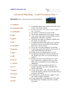 Advanced Matching – Land Formations Part 1