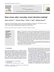 Does stress alter everyday moral decision