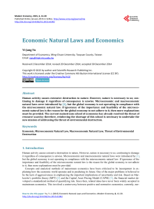 Economic Natural Laws and Economics
