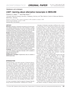 LSAT: learning about alternative transcripts in MEDLINE