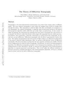 The Theory of Diffraction Tomography