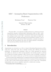 Assumption-Based Argumentation with Preferences