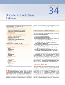 Disorders of Acid